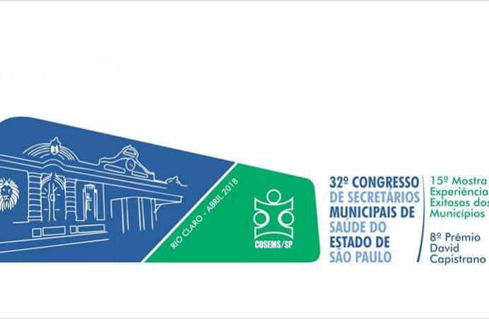 Estão abertas as inscrições para o 32º Congresso do COSEMS/SP