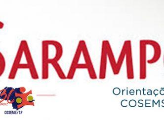 Nota de orientação do COSEMS/SP sobre Sarampo