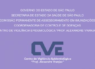 Boletim Epidemiológico do Sarampo no estado de São Paulo