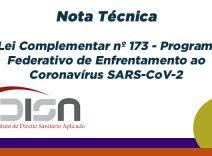 Nota Técnica sobre a Lei Complementar nº 173 – Programa Federativo de Enfrentamento ao Coronavírus SARS-CoV-2