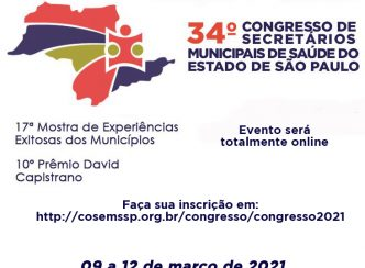 34º Congresso do COSEMS/SP – online