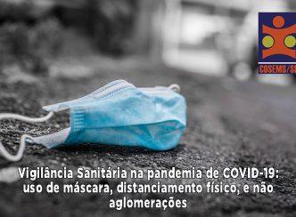 Vigilância Sanitária na pandemia de COVID-19: uso de máscara, distanciamento físico, e não aglomerações