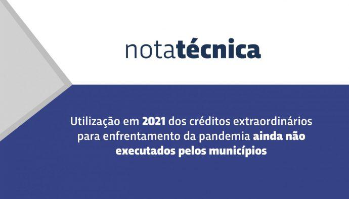 Acórdão do TCU trata da utilização em 2021 dos recursos ainda não executados pelos municípios