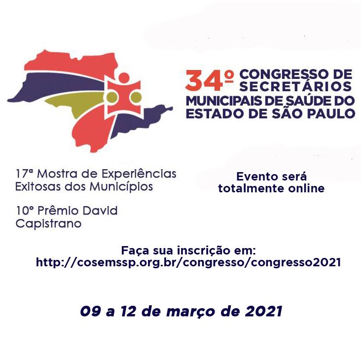 Prorrogadas as inscrições com desconto para 34º Congresso do COSEMS/SP