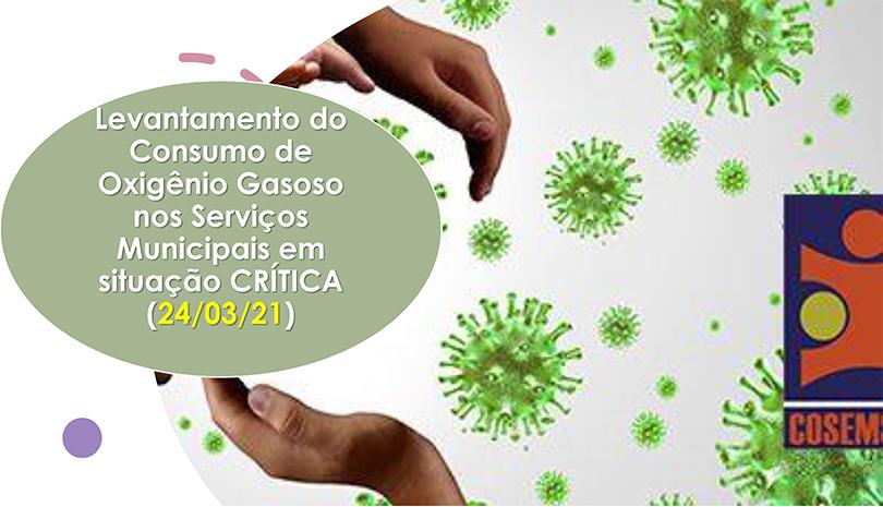 Novo Levantamento do COSEMS/SP aponta 114 municípios paulistas em situação crítica no abastecimento de cilindros de O2 gasoso