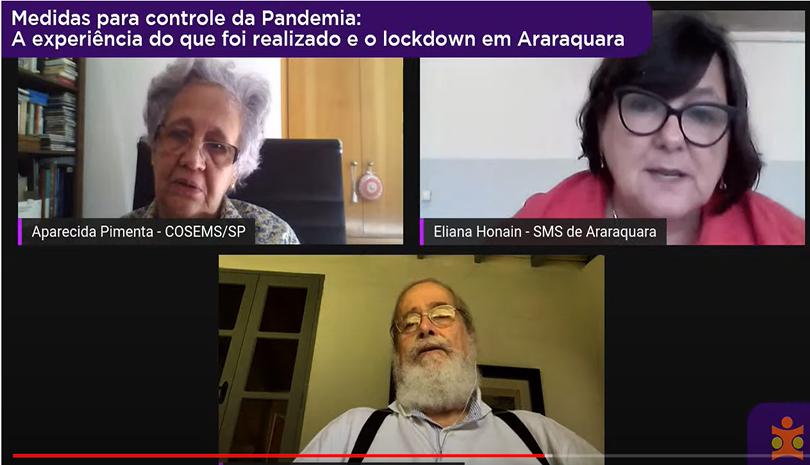Confira a Web – Medidas para controle da Pandemia: a experiência do que foi realizado e o lockdown em Araraquara (SP)