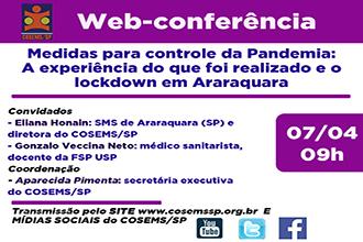 Medidas para controle da Pandemia:  A experiência do que foi realizado e o lockdown em Araraquara