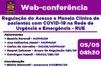 Regulação do acesso e manejo clinico de pacientes com COVID-19 na Rede de Urgência e Emergência