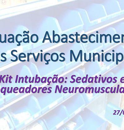 Levantamento periódico do COSEMS/SP aponta que situação dos kits de intubação no estado de São Paulo continua preocupante e obteve ligeira melhora