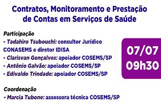 Contratos, monitoramento e prestação de contas em Serviços de Saúde