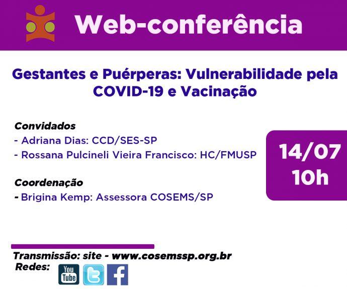 Encontros municipais parte III - Gestantes e Puérperas: Vulnerabilidade pela COVID-19 e Vacinação