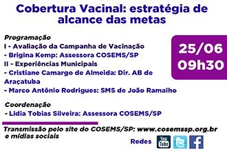 Encontros municipais parte I: Cobertura Vacinal e Estratégias de alcance das metas